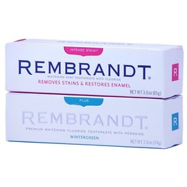 rembrandt - レンブラント ホワイトニング歯磨き粉 ウィンターグリーン1本+インテンス・ステイン1本 2個セット   Rembrandt Whitening Mint Toothpaste With Fluoride 2pack WinterGreen+Intensestain