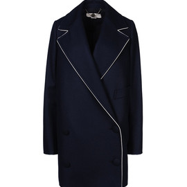 Stella McCartney - White Piping Wool Coat