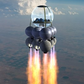 The Round Space-Rocket - Sub-orbital Flight, for 2 persons