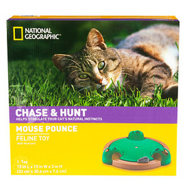 National Geographic™ CHASE & HUNT - Electronic Mouse Pounce Cat Toy