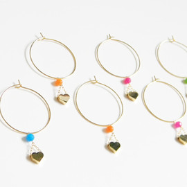 Ostara - 16k Gold Plated Tiny HEART Hoop Earring