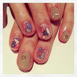 Geometry art nails