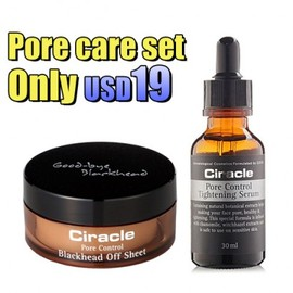 Ciracle - Ciracle Pore Control Blackhead Off Sheet + Pore Control Tightening Serum SET For Only  USD 19