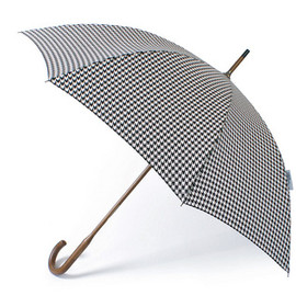 LONDON UNDERCOVER - Black & White Houndstooth Classic Umbrella