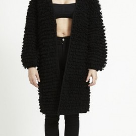 STOLEN GIRLFRIENDS CLUB - STOLEN GIRLFRIENDS CLUB FUZZY CARDIGAN  BLACK