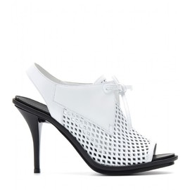 BALENCIAGA - PERFORATED LEATHER SLING-BACK SANDALS