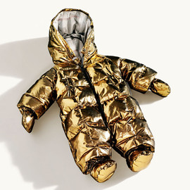 Burberry - Gold metallic baby snowsuit