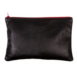 American Apparel - leather carry all pouch