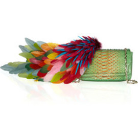 Christian Louboutin - Plumes python shoulder bag
