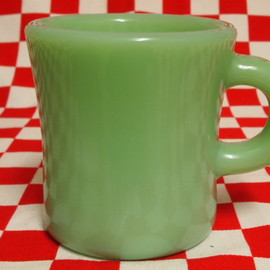 Fire King - Jadeite Restaurantware G212 Extra Heavy Mug -1st Type