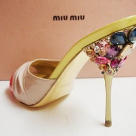 miumiu pumps jewel encrusted heel