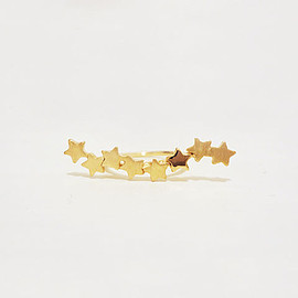 shiho - little star line ring(gd)