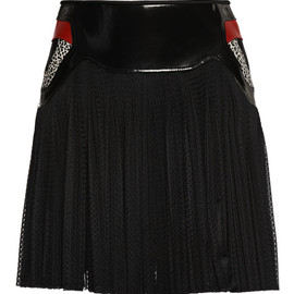 ALEXANDER WANG - SS2015 Referee Pleated Mini Skirt With Sneaker Detail Waistband
