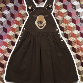Boo Boo Bear Dress - Brown