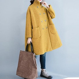 coat, Wool Coat - Wool Coat, double breasted Coat, winter Coat, oversized Coat, Wool jacket, womens jackets