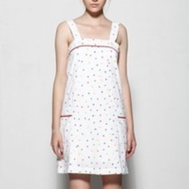 A.P.C. - APC Madras Jessica Ogden/A line seersucker dot sun dress