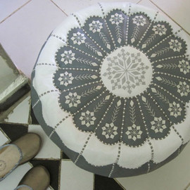 soleil - morocco pouf/モロッコプフ (White)