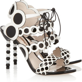 SOPHIA WEBSTER - Yayoi patent and leather sandals