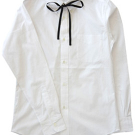 NuGgETS - BD Shirt with Ribbon-Broadcloth (white)