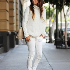 winter / style - white on white