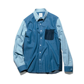 uniform experiment - COLOR MIX DENIM B.D SHIRT