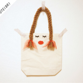 MARU△SIKAKU - OSAGE GIRLS TOTE (BROWN)