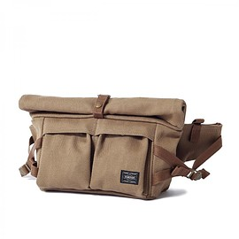 "HEAD PORTER - ""BANFF"" WAIST BAG BROWN"