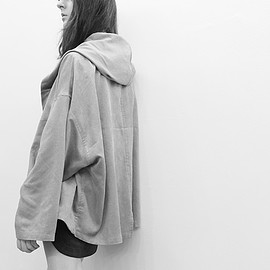 fev - loose fit short hoodie coat