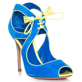 Gianvito Rossi - Suede bolero lace-up sandal