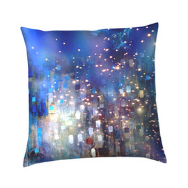 Accent Cushion Throw Pillow in Galaxy, Nebula and Space Painted Fabric