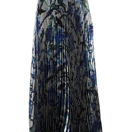 Christopher Kane - long pleated lamé skirt