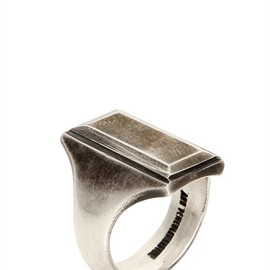ANN DEMEULEMEESTER - Square Top Ring