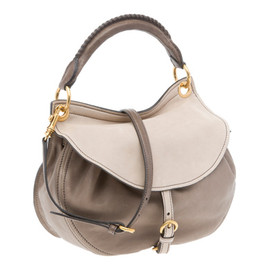 miu miu - Two-Tone Nappa Leather Flap Hobo Bag