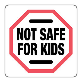 Nevs Labels - #gifts esp.4 'them' Massachussetts Not Safe For Kids Label - Small