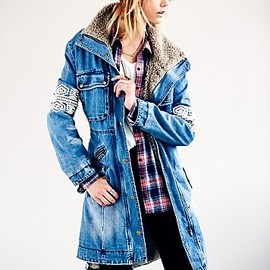 Free People - Rendered Denim Parka