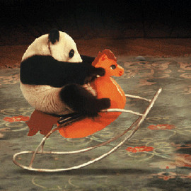 Rocking Chair with Panda