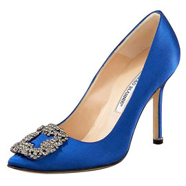 Manolo Blahnik - Something Blue Satin Pump