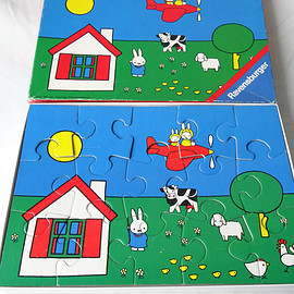Vintage Puzzle 'Miffy in the air'