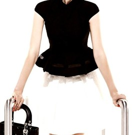 Christian Dior - Dior Resort 2013 Ad Black and White Outfit and Bag
