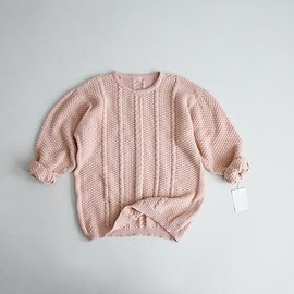 _ - pink sweater