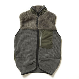 sacai - Fur Fleece Vest