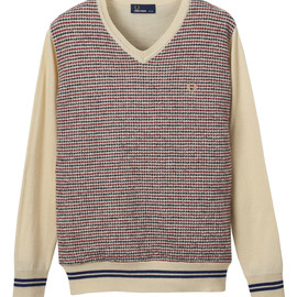 Fred Perry - Jaquard V neck Knit
