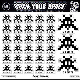 "invader - ""STICK YOUR SPACE"" STICKERS SET"