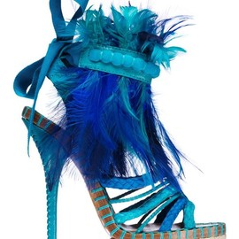 Christian Dior - blue feathers