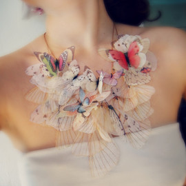 Wings of Iris- Organza Necklace