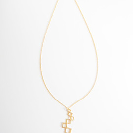 Ostara - 14kgf chain/16k Gold plated Square Earrings&Necklace