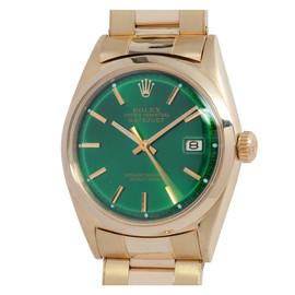 ROLEX - Yellow Gold Datejust Wristwatch circa 1964 with Custom-Color Dial