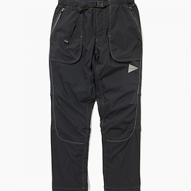 and wander, アンドワンダー - dry touch stretch pants black