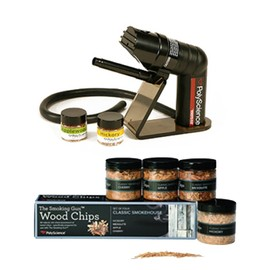 PolyScience - 燻製器 The Smoking Gun KIT - Cold Smoke Gun and Wood Chips