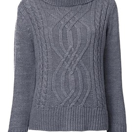 Guild Prime - cable knit turtleneck jumper
